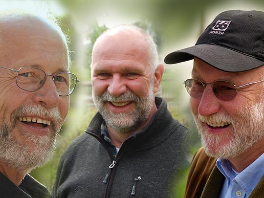 Bruno Podlech, Walter Feldmann und Andreas Trappe